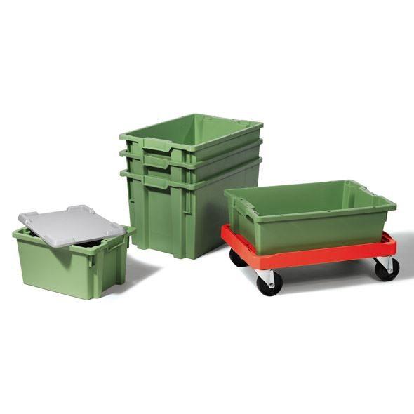 Plastlådor industri – Pneumatisk transport med vakuum