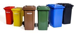 Søppeldunk på hjul, 80–360 l