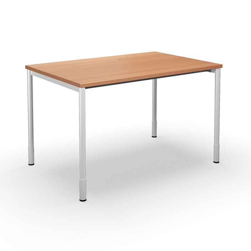 Skrivebord Duo C, LxB 1400x800 mm, bøghvid | Gerdmans