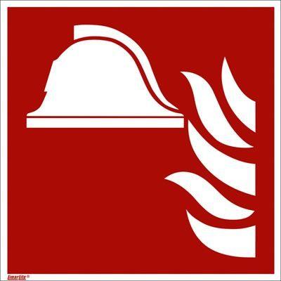 Brandskylt, efterlysande, brandredskap, 200x200 mm, plast, 10 st/fp