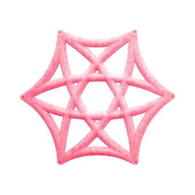 Lydabsorbent Airflake Line, lys rosa, 10 stk/pk