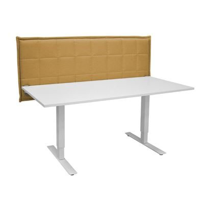 Bordskærm Stitch Table, LxHxD 860x650x85 mm, mørkegul