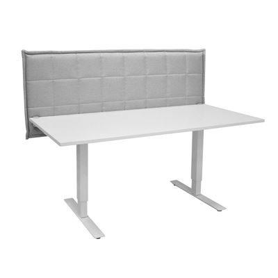 Bordskærm Stitch Table, LxHxD 1860x650x85 mm, lysegrå
